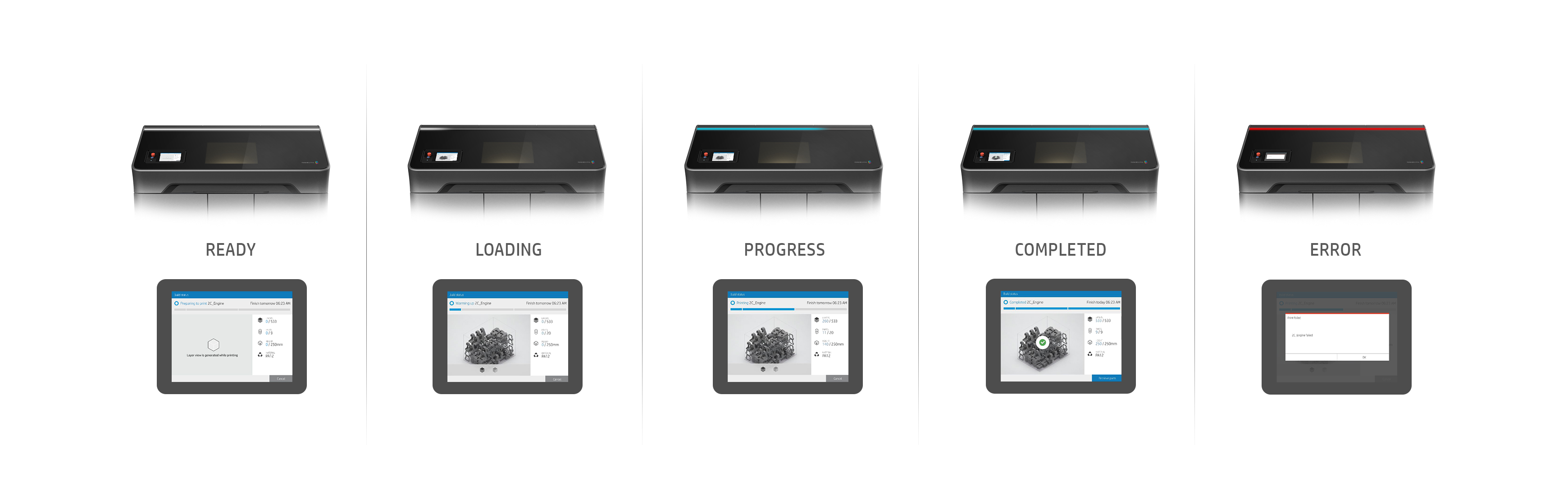 UX Design for HP Jet Fusion 3D Printers