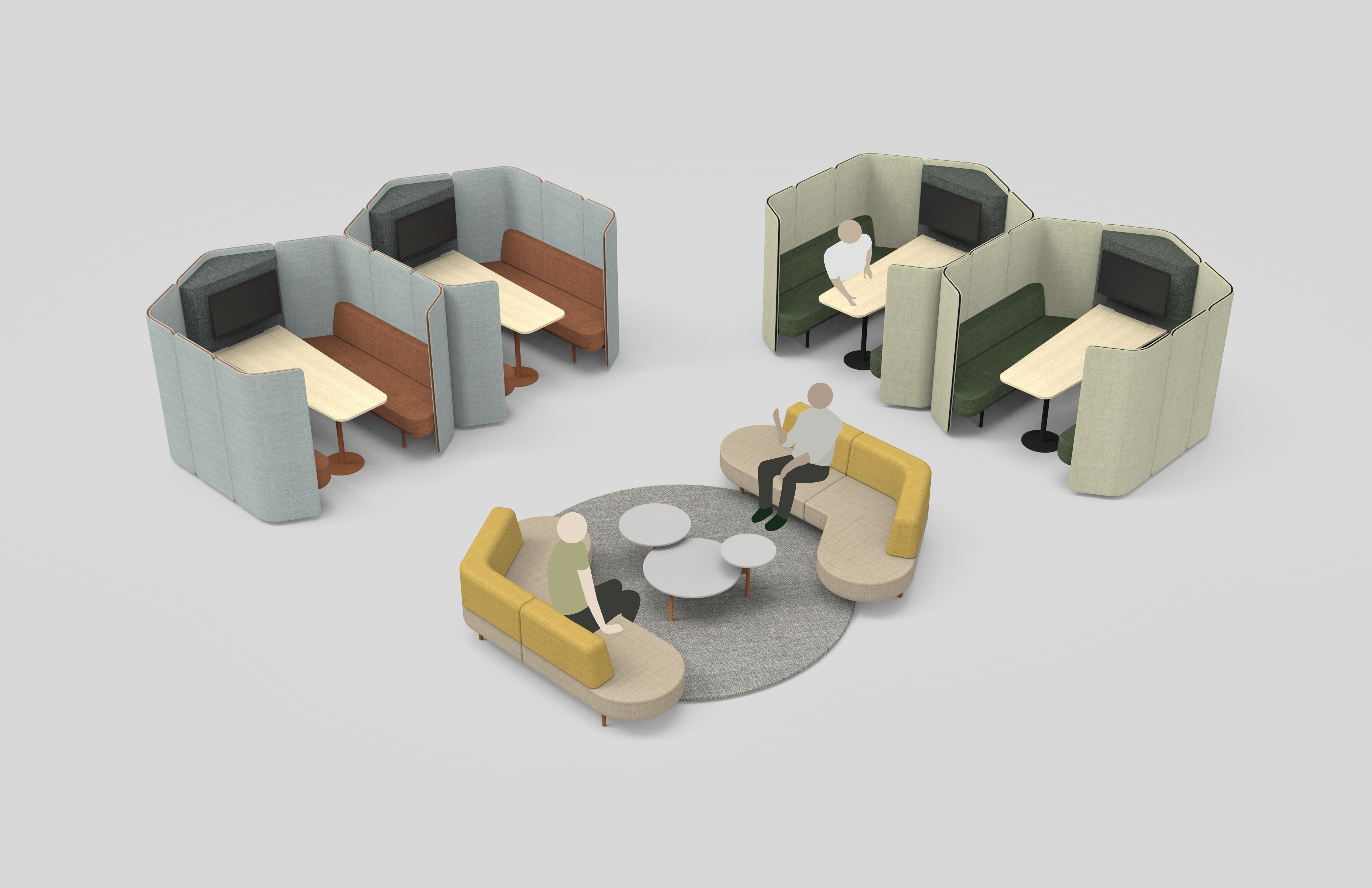 Joie - Flexible furniture for public to private spaces